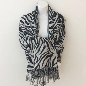 Zebra print wrap/scarf